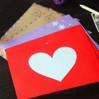 Wholesale New Creative Romantic Love Aviation Snowflake Decoration Envelope Postcard Storage H0322