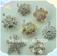 Wholesale flat back alloy crystal button for ribbn flower flat back rhinestone embellishment for ribbon bow accessories MOQ M68668