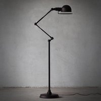 Wholesale European style minimalist living room bedroom creative retro American black rotatable mechanical arm floor lamp