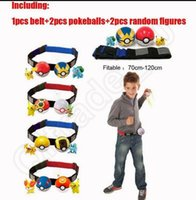 Wholesale Play Game Kids Poke Ball Belt Clip N Carry Pokeball Styles Pretend Adjustable Xmas Gift Anime OOA641