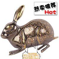 Wholesale Pakistan inch bronze color art ornament handmade Pakistan animal rabbit