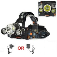 Wholesale 5000 Lumens CREE T6 XPE LED Modes Headlamp Light Li Battery EU US Charger for Fishing Camping Climbing Hiking