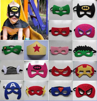 Wholesale 133 design Superhero mask Batman Spiderman Iron cosplay Hulk Thor mask Halloween Party Costumes for Kids