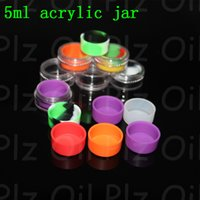 acrylic nail containers - ACRYLIC ml butane hash jar oil silicone container silicone dab container for wax silicone jar ti nail