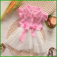 2016 plus récent en stock jolie fleur arc poche Tutu dentelle tulle style couches vestidos enfants filles robes Livraison gratuite