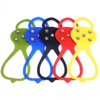 Wholesale Hot Sale Over Shoe Studded Non slip Spikes Snow Ice Cleats Crampons For Climbing Caving Silicon Steel Studs order lt no track