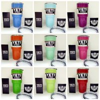 Wholesale Yeti oz Coolers cup powder Coated ss YETI Rambler Tumbler Travel Vehicle Beer Mug Bilayer Vacuum Insulated cups cooler Multi Color