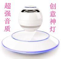 Wholesale High Grade UFO Magnetic Levitation Bluetooth Speaker Sound Light Emitting Magic Night Pearl Home Accessories