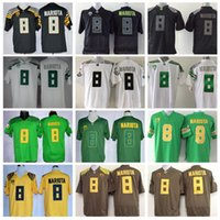 american footballs - Hot Sale Marcus Mariota Jersey College Oregon Ducks Football Jerseys American Green Black Yellow White Fashion Embroidery And Sewing Logo