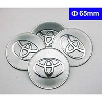 Wholesale 4PCS Universal Rims Wheel hub caps cover logo Emblem Metal decal self adheisve for toyota camry corolla prius tundra land cruiser