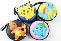 Wholesale Christmas gifts Women Kawaii Animals Cartoon bag POKE pikachu Coin Purse Key kids Girls Wallet Earphone Organizer Box Bags ZJ