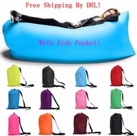 Wholesale Lamzac laybag Fast Inflatable hangout Air Sofa sleep bag Camping Bed Sofa Lounger Only Need Ten Seconds