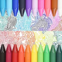 Wholesale 12 Colorful Cute Gel Pens Drawing Painting Pen Colors Creative Gift School Office Supplies Material Escolar Papelaria