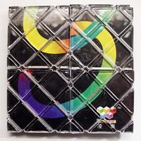 0-12M Plastic Other Wholesale-New LingAo 8-Panel Mini Black Magic Cube Rings 8 Tile Panel Type magic board