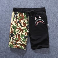Wholesale 2016 New to the men brand casual shorts shark camouflage sport short basketball running trousers aape cotton streetwear