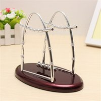 best balance ball - Hot Sale Best Great Gift New Physics Science Fun Desk Toy Gift Arc shaped Newtons Cradle Steel Balance Ball