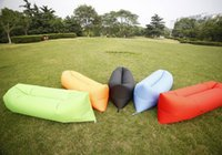 Wholesale 2016 Hot New Style Simple Convenient Comfortable Inflatable Sofa Beach Sleeping Bag Creative Lunch Break Outdoor Bed