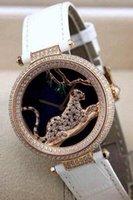arts rubber watch - art jewelry leopard diamonds fashion women s watch mm dial Japan quartz lady girl wristwatch FRANCE PARIS LUXURY