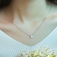 artificial plants singapore - JPF silver diamond necklace female silver artificial clavicle Pendant Necklace