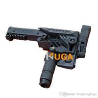 aeg airsoft rifles - 2016 Glock Airsoft sports GunStock CAA SRS Multi Position Sniper Rifle Stocks For M16 SR25 A2 AEG Rifle B Type Black and TAN