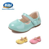 bibi shoes - New arrival Hot sale Bibi new spring shoes children shoes leather shoes imported Girls Princess shoes baby shoes healthy and safely