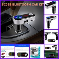 Wholesale BC09B Car MP3 Audio Player Bluetooth FM Transmitter Wireless FM Modulator Car Kit HandsFree USB Charger for iPhone