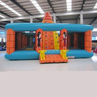 backyard products - AOQI indoor climbing sport product inflatable fun city rock climbing wall giant inflatable mountain funland for promotion