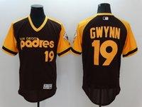 baseball coffee - San Diego Padres Tony Gwynn Jersey Cooperstown Tony Gwynn Baseball Jerseys Coffee Grey White Pinstripe Pullover Cream mlb