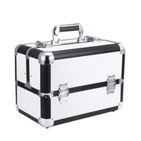 aluminum luggage carrier - make up box color luggage carrier pu storage box with makeup box for professional lady makeup use