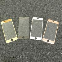 2016 nuevo vidrio galvanizado electrochapado de la fibra del carbón de la llegada cobertura completa 0.15mm tempered el protector de los vidrios para el iPhone 6/6 más con el paquete al por menor