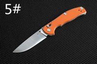 axis lock knife - 201608 NEW Shirogorov Rusia Custom Folding Knife Tabargan NS Flat Orange G10 Mashine Satin Axis Lock folding knife gift knife