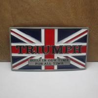 Wholesale triumph belt buckles unique British flag silver belt buckle Texas Fashion Mens Western Turbo Nos Tunning suitable Belt