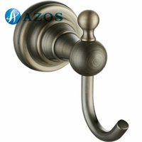 antique shower hardware - AZOS Wall Mounted Nickel Brush Finish Antique Brass Color Bath Towel Hooks Bathroom Accessories Shower Hardware Components GJML2810Q