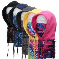 Wholesale Fashion Outdoor New Skiing Bibs Fleece Thickening Windbreaker Ski Bicycle Face Mask Men Women Scarf Cap Cycling