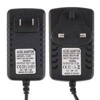 ac power plug audio - Black Universal AC V US EU UK Plug DC12V A AC Adapter Audio Video Power Supply Transformer for security CCTV camera LED strips