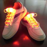 Wholesale Fashion Light Up Casual Shoes New Luminous Led Multicolors Shoelaces Men Women Disco Party Night Glowing Shoe Laces