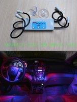 Wholesale Automotive Solar LED ambient light Universal Car interior light Auto Accessories Multifunction LED change color light