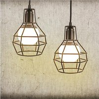 Wholesale 2016 Rushed Lampshades for Lamps Lamp Cover The New Art Deco Style Antique Chandeliers E27 Wire Paint Grenade Cap Line Steel Glass Lampshade