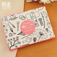 Wholesale Sheets Japan Elements Coloring Postcard with Envelope Postcards For Adult DIY Painting Book Secret Garden Colouring Books