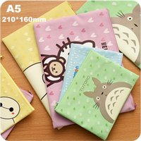 Wholesale A5 mm New Sweet Cartoon series File bag Filing Products clean up bags styles school office supplies
