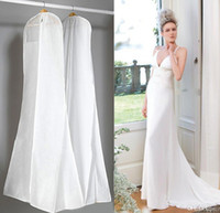 big garment bag - 2016 New Big Wedding Dress Bags High Quality White cm Long Garment Clothes Dust Bag Travel Storage Dust Covers Cheap In Stock