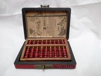 Wholesale ABACUS LEATHER WOODEN DRAGON PHOENIX abacus BOX