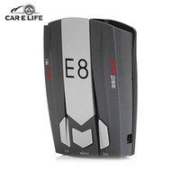 Wholesale E8 Car Laser Radar Detector Degree Speed Control Road Safety Warner Cars Alarm Security System English Russian Warning