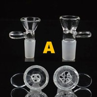 Wholesale Male and Female smoking accessory bowl piece for gongs mm mm glass water pipes Assorted Bowls slide With Handle Water Smoking Pipe bong
