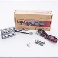 Wholesale High Power Set Led W Universal Car Light Source Waterproof DC12V DRL Daytime Running Light Auto Lamp super lighting White