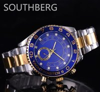 Wholesale high quality brand watches for men automatic dive watch ceramic bezel sapphire glass steel gold