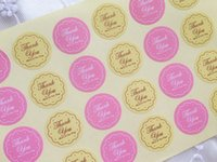 Wholesale 600pcs THANK U sealing paste HAVE A NICE DAY gift dress up sticker for cake biscuit food candy packaging bags