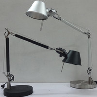 aluminum desk lamps - Fashion LED standing light floor lamp aluminum desk light single double arm for reading table lights working lighting with switch