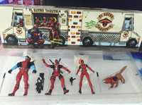 action toy man - 5 cm set Marvel American Movie X Men Deadpool PVC Action Figure Collectible Toy Doll with color box