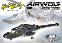 align airwolf - Bell airwolf scale body W Retracts Metal landing Gear for Align ALIGN T REX450X XL SE SE V2 Fiber Glass helicopter fuselage